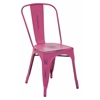 Office Star Bristow Armless Chair, Antique Pink, 4 Pack