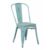 Office Star Bristow Armless Chair, Antique Sky Blue Finish, 4 Pack