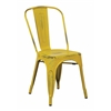 Bristow Armless Chair, Antique Yellow with Blue Specks Finish, 4 Pack