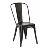 Bristow Armless Chair, Matte Black Finish, 4 Pack
