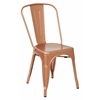 Bristow Armless Chair, Copper Finish, 4 Pack