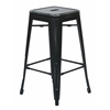 "Office Star Bristow 26"" Antique Metal Barstool, Antique Black Finish, 4 Pack"