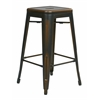 "Office Star Bristow 26"" Antique Metal Barstool, Antique Copper Finish, 4 Pack"