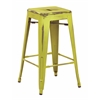 "Office Star Bristow 26"" Antique Metal Barstool, Antique Lime Finish, 4 Pack"
