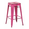"Office Star Bristow 26"" Antique Metal Barstool, Antique Pink Finish, 4 Pack"