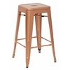 "Bristow 26"" Antique Metal Barstools, Copper 2 -Pack"