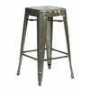 "Office Star Bristow 26"" Metal Barstools,  Gun metal Finish, 2-Pack"