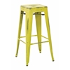 "Bristow 30"" Antique Metal Barstool, Antique Lime Finish, 4 Pack"