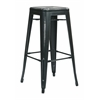 "Office Star Bristow 30"" Antique Metal Barstool, Antique Black Finish, 2 Pack"