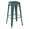 "Bristow 30"" Metal Barstools, Antique Turquoise, 4-Pack"