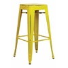 "Office Star Bristow 30"" Antique Metal Barstool, Antique Yellow with Blue Specks Finish, 4 Pack"