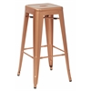 "Bristow 30"" Antique Metal Barstool, Copper Finish, 4 Pack"