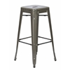 "Office Star Bristow 30"" Metal Barstools, Gunmetal Finish, 2-Pack"