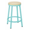 "Bristow 26"" Metal Backless Barstool, Mint Finish Frame"