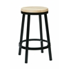 "Office Star Bristow 26"" Metal Backless Barstool, Black Finish Frame"