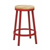 "Office Star Bristow 26"" Metal Backless Barstool, Red Finish Frame"