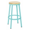 "Bristow 30"" Metal Backless Barstool, Mint Finish Frame"