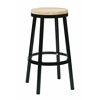 "Office Star Bristow 30"" Metal Backless Barstool, Black Finish Frame"