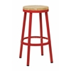 "Office Star Bristow 30"" Metal Backless Barstool, Red Finish Frame"