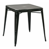 Office Star Bristow Antique Metal Table in Antique Black  (KD)