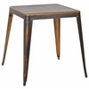 Office Star Bristow Antique Metal Table in Antique Copper (KD)