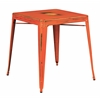 Office Star Bristow Antique Metal Table in Antique Orange  (KD)