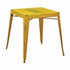 Office Star Bristow Antique Metal Table in Antique Yellow with Blue Specks (KD)