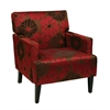 Office Star Carrington Arm Chair in Groovy Red