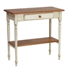Foyer Table in Country Cottage Buttermilk & Cherry Finish