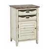 Office Star Charlotte Chair Side Table in Country Cottage Finish, Fully Assembled