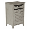 Office Star Charlotte Chair Side Table in Grey Finish, Fully Assembled