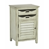 Office Star Charlotte Chair Side Table in Antique Celadon Finish, Fully Assembled