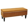 OSP Accents Cambridge Storage Bench in Goldenrod
