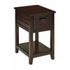 Office Star Camille Side Table in Walnut Finish
