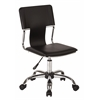Office Star Carina Task Chair in Black Vinyl