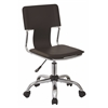 Office Star Carina Task Chair in Espresso Vinyl
