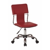 Office Star Carina Task Chair in Red Vinyl