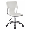 Office Star Carina Task Chair in White Vinyl