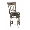 "24"" Cosmo Metal Swivel Barstool in Espresso Faux Leather Seat"