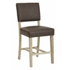 Office Star Carson Counter Stool in Elite Espresso Bonded Leather