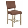 Office Star Carson Counter Stool in Elite Saddle Bonded Leather