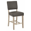 Office Star Carson Counter Stool in Elite Pewter Bonded Leather