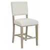 Office Star Carson Counter Stool in Linen Fabric