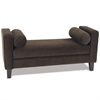 Office Star Curves Bench in Chocolate Velvet