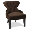 Office Star Curves Hour Glass Chair in Chocolate Velvet