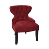 Office Star Curves Hour Glass Chair in Vintage Grenadine