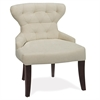 Office Star Curves Hour Glass Chair in Oyster Velvet