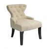 Office Star Curves Hour Glass Chair in Linen