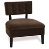 Office Star Curves Button Accent Chair in Chocolate Velvet