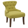 Curves Fabric Hour Glass Accent Chair